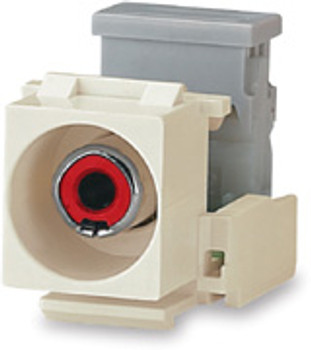 RCA Red to 110 Connector Module, Light Ivory