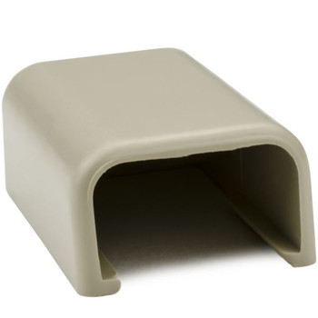 "End Cap, 3/4"", PVC, Ivory"