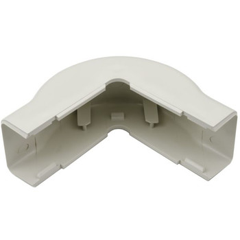 "External Corner Cover, 1-1/4"", 1"" Bend Radius, PVC, Office White"