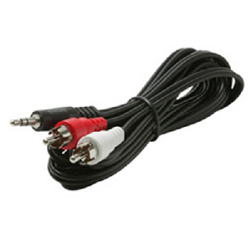 12 ft 3.5mm to RCA Y-Cable M-M