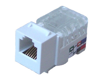 Cat3 Voice `KwikJack', White