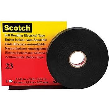 "3M Rubber Splicing Tape, 30 Mil, 3/4"" x 30', BLACK"