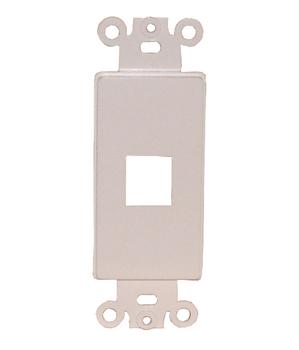 Designer Style Keystone 1 Port Insert - WHITE