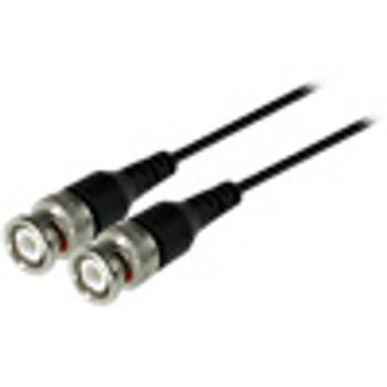 BNC Male to BNC Male Mini-Coax Cable, 18 inch