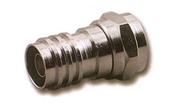 F Connector Crimp Plug with Long Attached Ring for RG-6/U Plenum