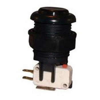 Action Push Button Switch (Momentary) & Separate Push - Button Assembly (Black)