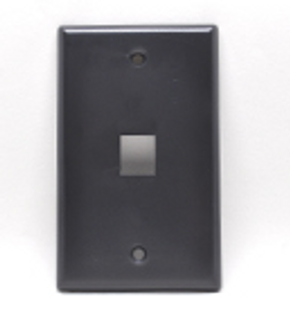 1-Port Keystone Faceplate Black