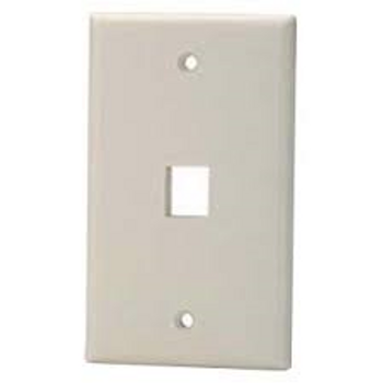 1-Port Almond Wall Plate