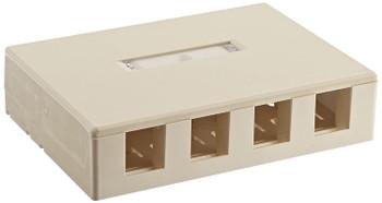 4 Port Surface Mount Box - IVORY