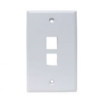 2 Port Keystone Wallplate - Almond