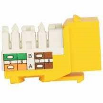 Cat 6 Keystone KwikJack - Yellow