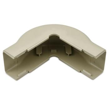 "External Corner Cover, 1-1/4"", 1"" Bend Radius, PVC, Ivory"