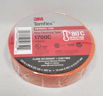 3M™ 3M1700C, Temflex™ Vinyl Electrical Tape 1700, Orange