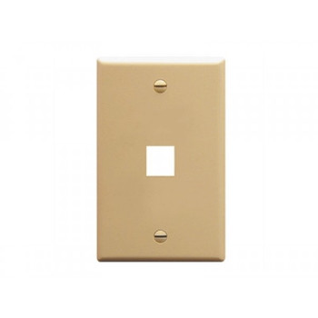1 Port Ivory Wall Plate