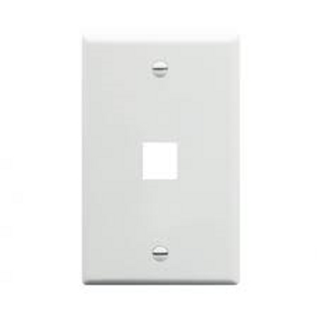 1-Port White Wall Plate