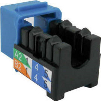 CAT6 Data Grade Keystone U-Jack, RJ45 90° 8×8 Blue