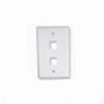 2 Port Keystone Wallplate - Ivory