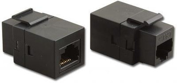 Cat5E Modular Feed Through Connector, Black