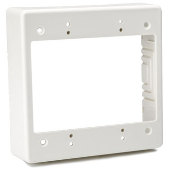 "Dual Gang Junction Box, 1-1/2"" Deep, PVC, Office White, 1/bag"