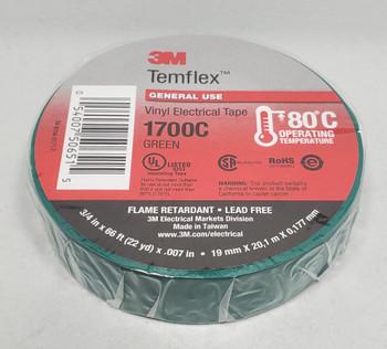 3M™ 3M1700C, Temflex™ Vinyl Electrical Tape 1700, Green