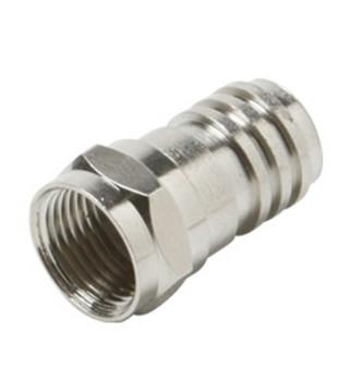 F Crimp Plug RG59 Long Barrel Connector