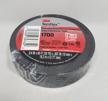 3M™ 3M1700, Temflex™ Vinyl Electrical Tape 1700, Black