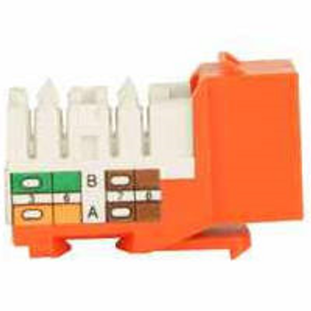 Cat 5e Keystone KwikJack - Orange