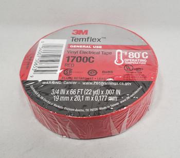 3M™ 3M1700C, Temflex™ Vinyl Electrical Tape 1700, Red