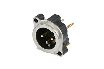 Male XLR 3-Pin Connector Nickel Shell Silver Contacts