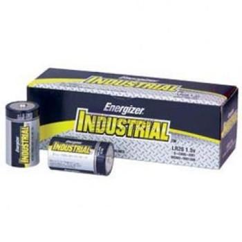 Energizer® Industrial Alkaline Batteries, D Size, 12 Batteries per Pack