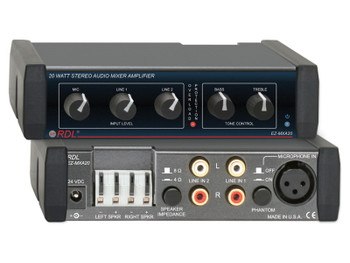 Radio Design Labs EZ-MXA20 20 W Stereo Audio Mixer-Amplifier with EQ