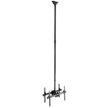 "Double Side Ceiling Mount TV Bracket with Tilt / Swivel and Adjustable Height for 37-70"" Screens"