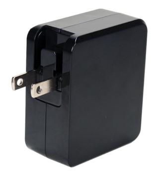 2-port 4.8Amp USB Universal AC Charger with Folding Power Plug