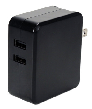 2-port 4.8Amp USB Universal AC Charger with Folding Power Plug
