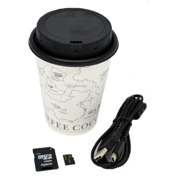 WiFi Coffee Cup Lid DVR