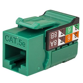 CAT5E Data Grade Keystone Jack, RJ45, 8×8, Green