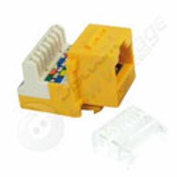 Cat3 Voice `KwikJack', Yellow
