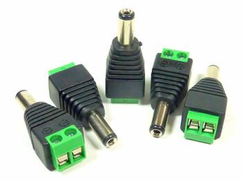 2.1mm DC Power Plug to Solderless Terminal