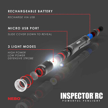 NEBO INSPECTOR RC Flex Power 360 Lumen Penlight