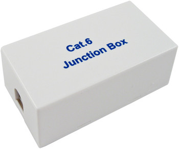 Cat 6 Inline Junction Splice Box, White
