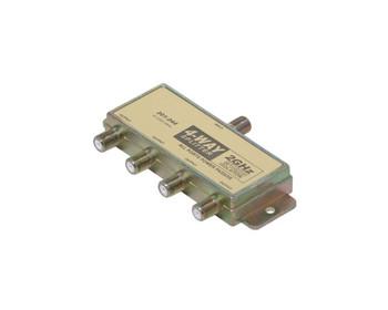 4-Way 2.4GHz 90dB Power Pass Satellite Splitter