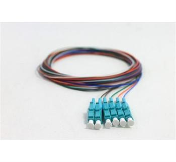 LC 6-Fiber Pigtail Kit, OM4, 3 Meter