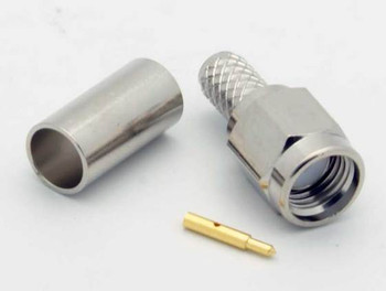 SMA Plug Crimp RG58A, 3pc Connector