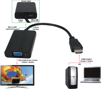 HDMI to VGA Video with Audio Converter