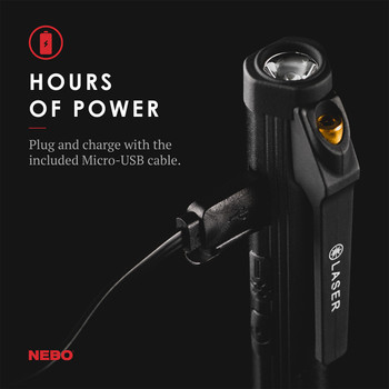 NEBO Larry TRIO 3-in-1 Rechargeable 300 Lumen Flashlight