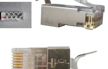 Shielded Cat 6 / 6A Modular Plugs, Bag of 100 pcs.