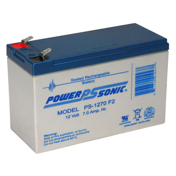 12 Volt 7 AH Sealed Lead Acid SLA Battery .250 F2 Terminal