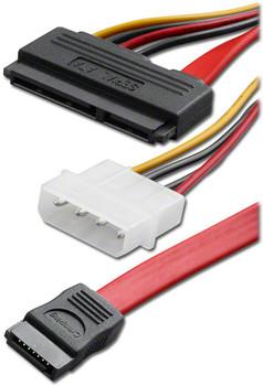 "SATA Power + Signal Combo Adaptor Cable, 12"""