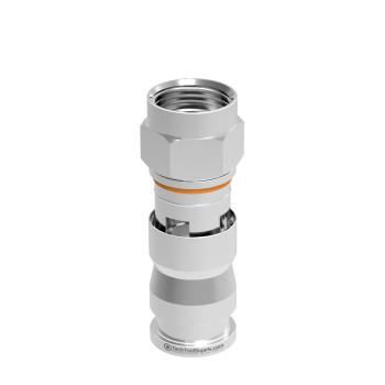 F Compression Connector for RG6-QUAD Coax