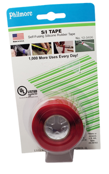 Philmore 12-3406, S/I Tape, Self-Fusing Silicone Rubber Tape, RED